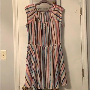 Lauren Conrad striped dress xl